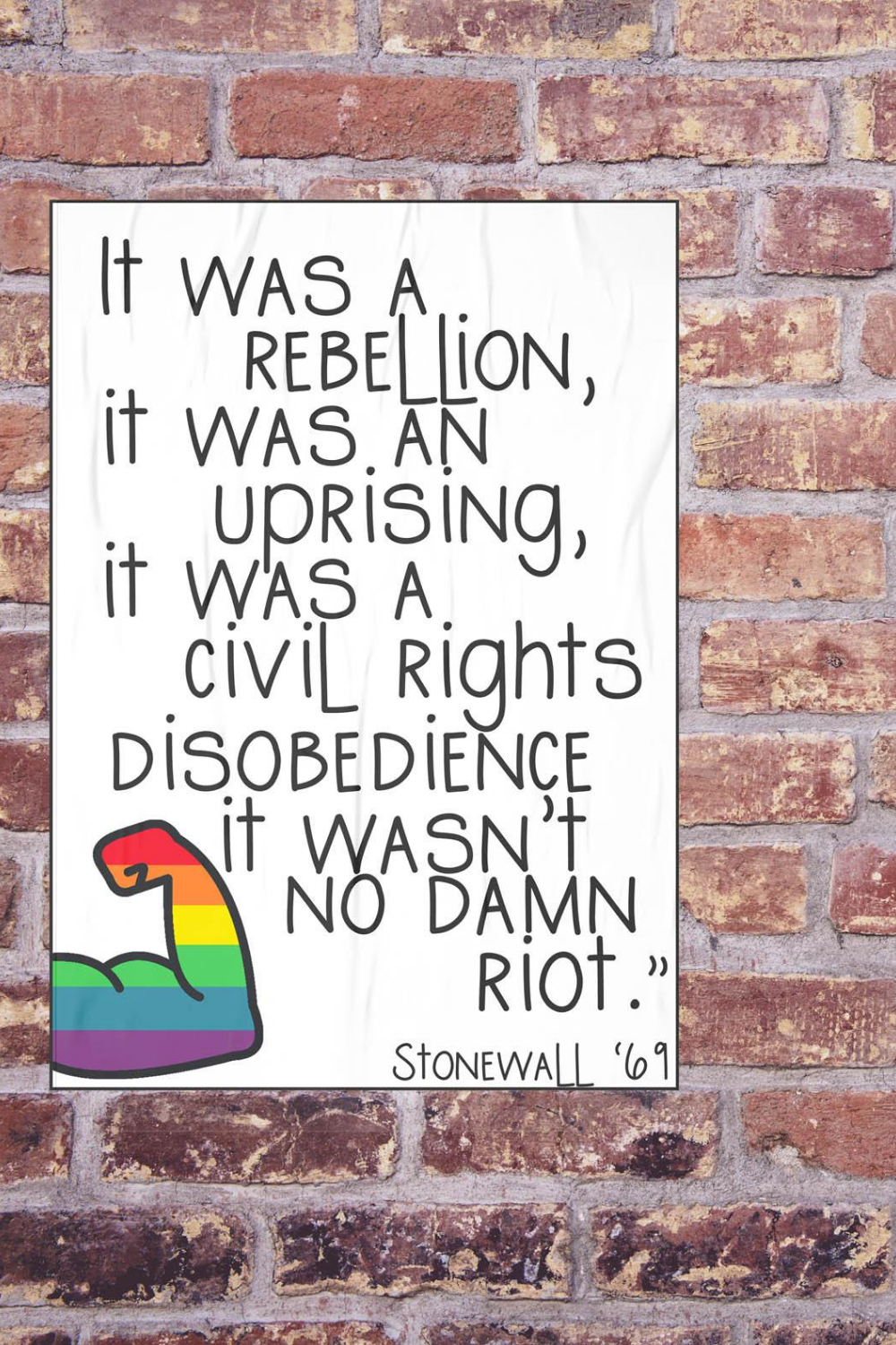 Stonewall Quote Poster Download