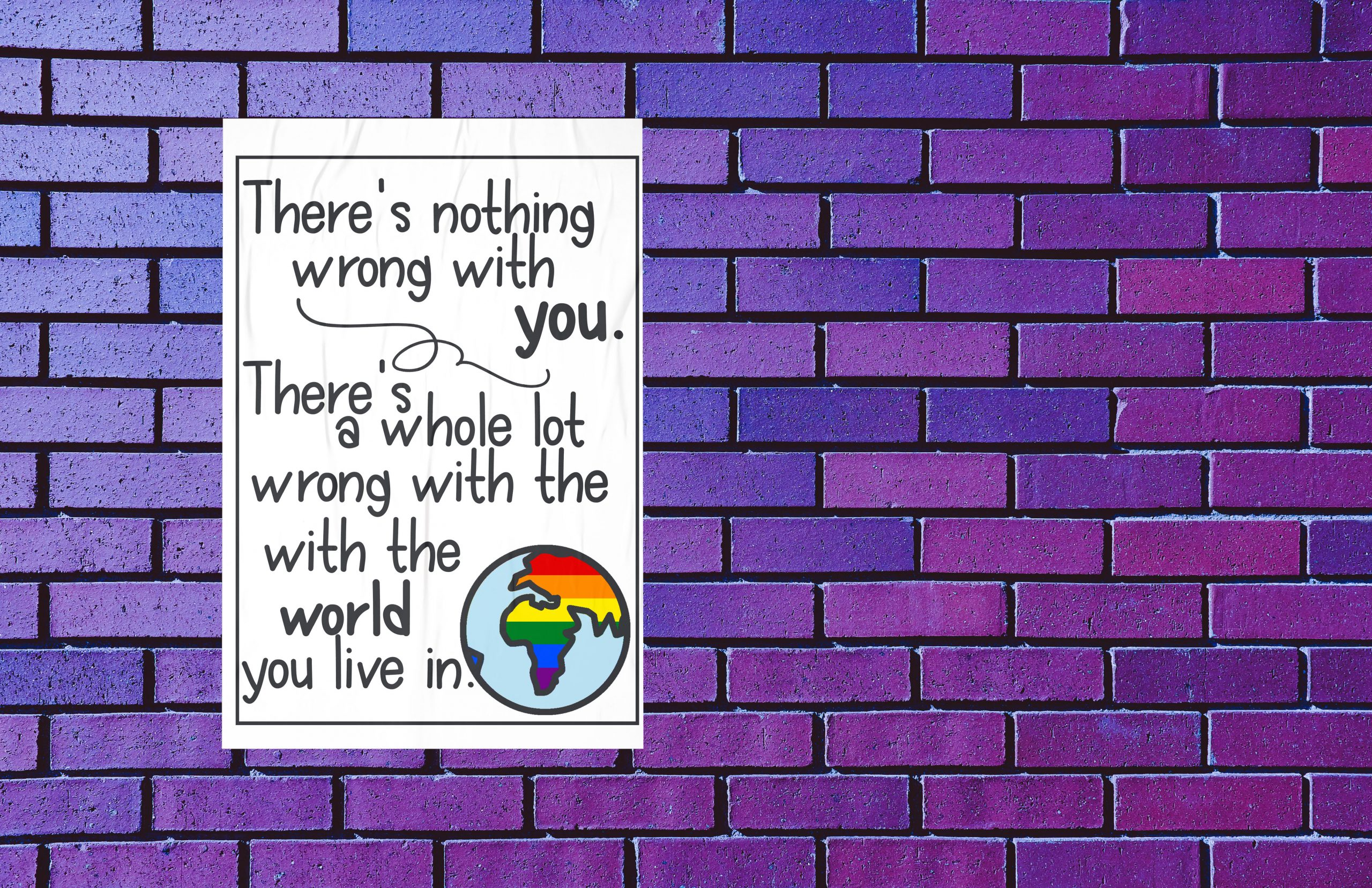 Uplifting LGBTQ Quote Downloadable Poster